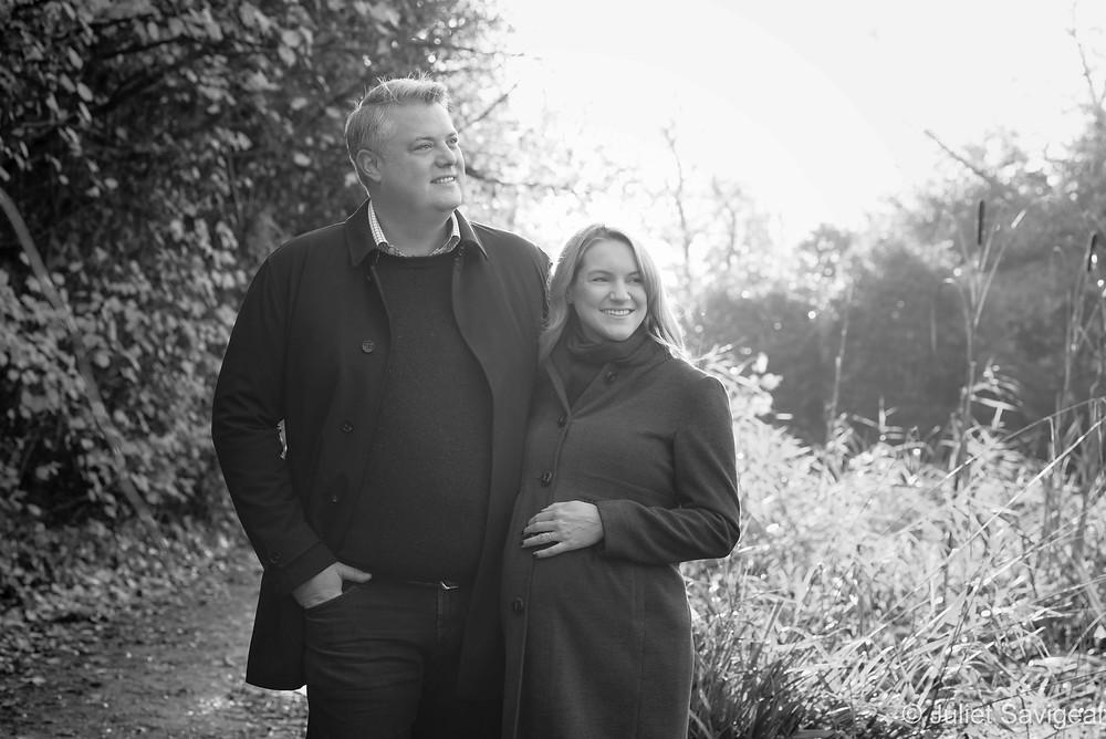 Maternity photo shoot on Wandsworth Common