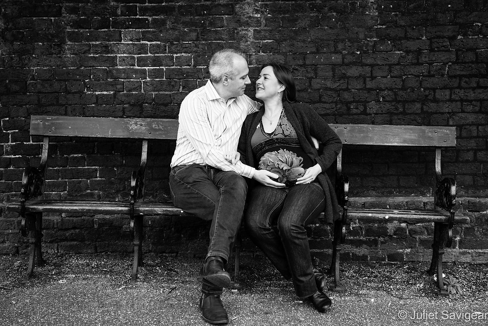 Slanting Bench - Maternity Photography - Hampstead