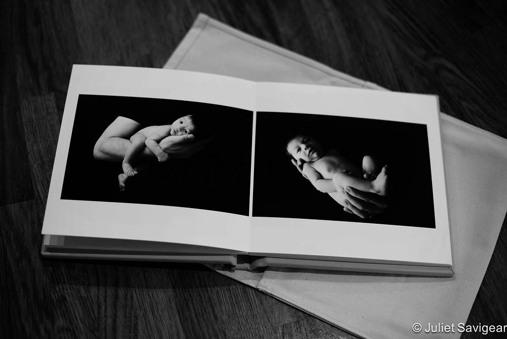 Newborn Baby Photo Album Spread