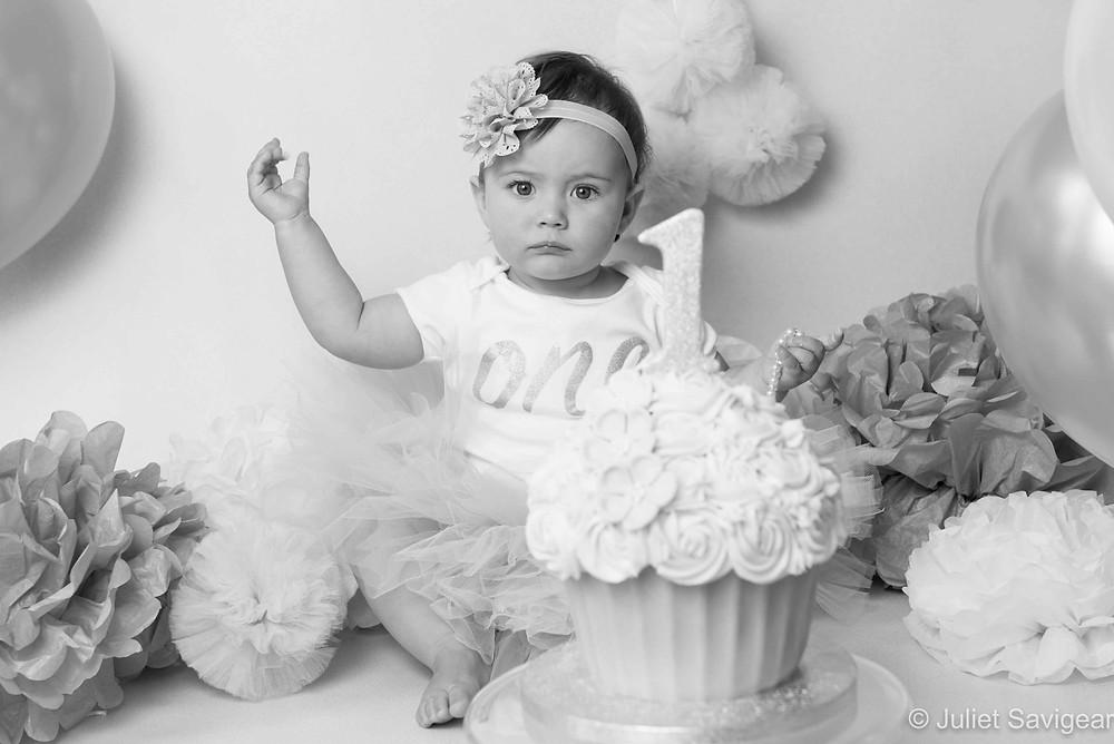 Cake Smash - First Birthday Photography, Balham