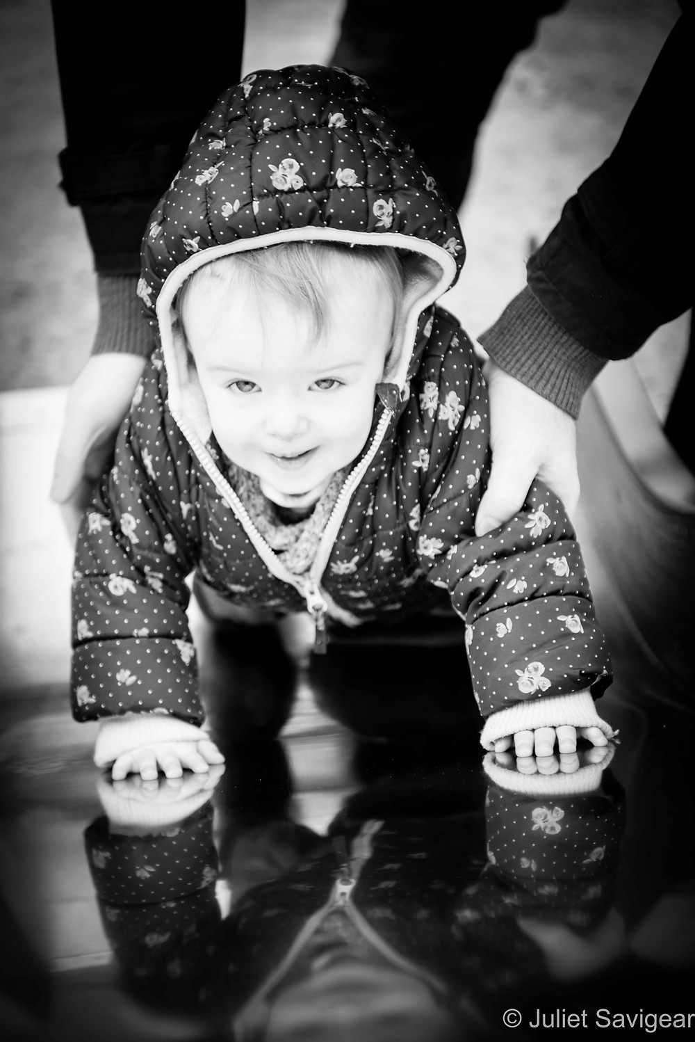 Down The Slide - Baby Photography, Belsize Park