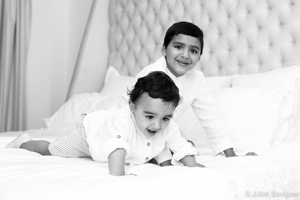 Brothers On The Bed - Children's Photography, Victoria, London