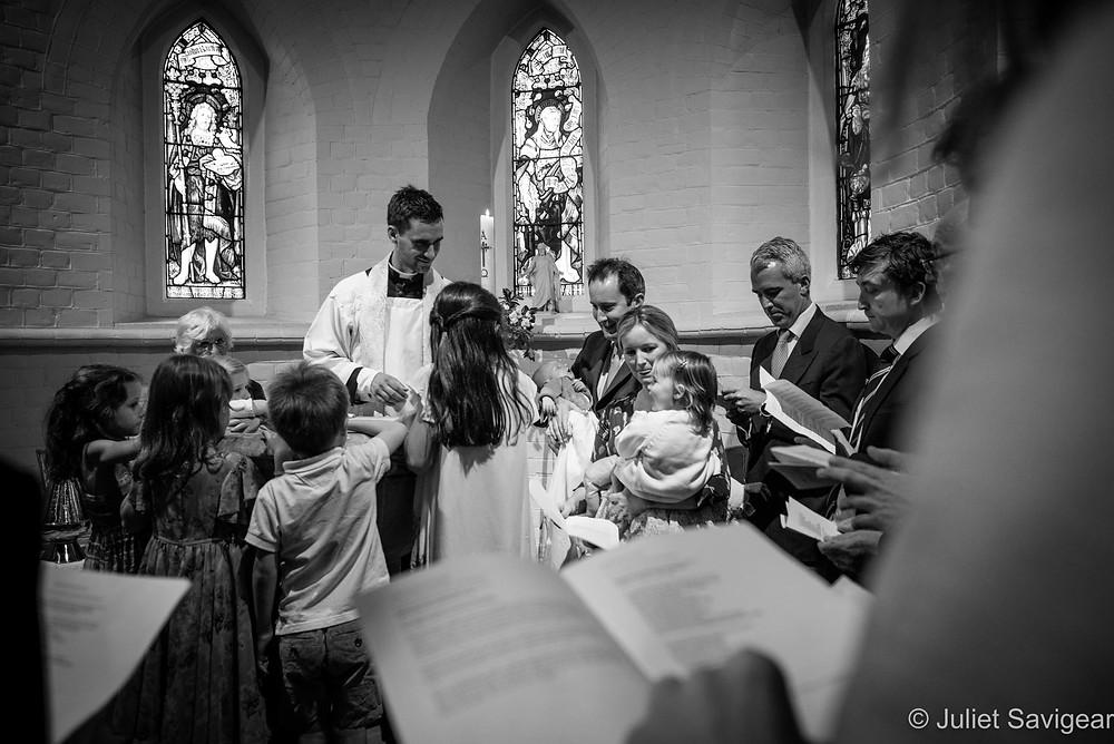 Christening ceremony