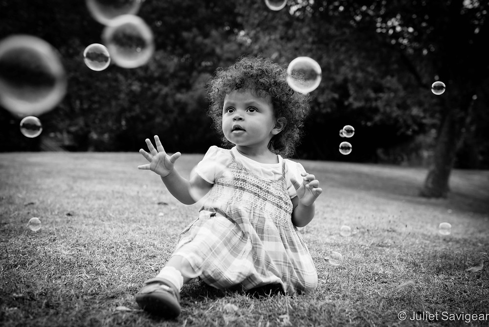 Bubbles - Toddler Photography, Surrey Quays, London, SE16