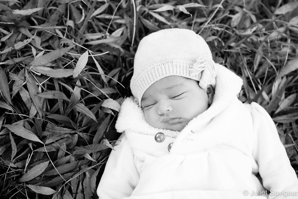 Baby In The Leaves - Baby Photography, Balham