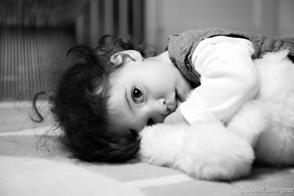 Cuddles With Bear - Children's Photography, Balham