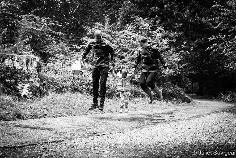 Jumping In Puddles - Family Photography, Chiswick