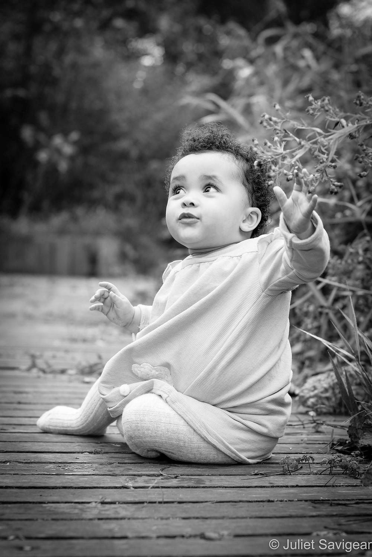 Baby girl outdoors