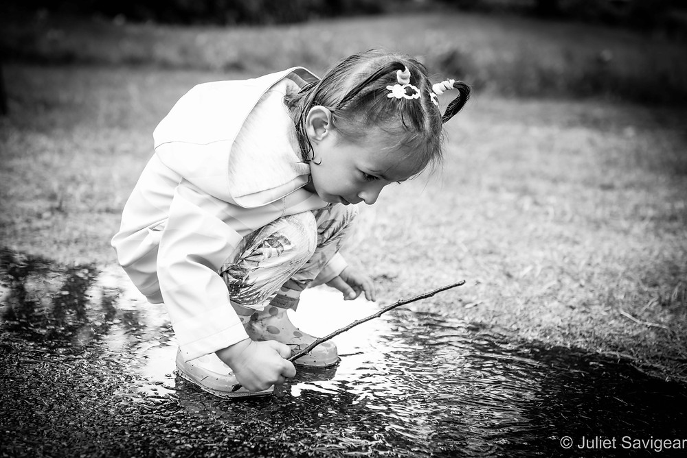 Puddles - Children's Photography, Chiswick