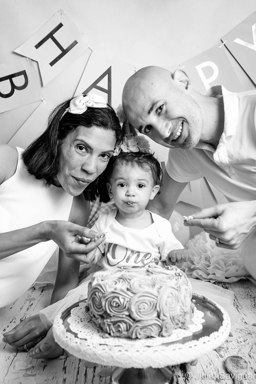 Family With Cake Smash