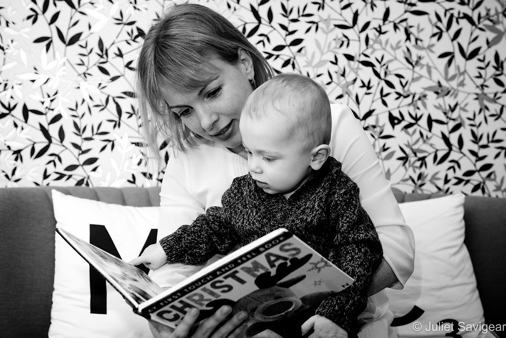 Mummy reading to baby