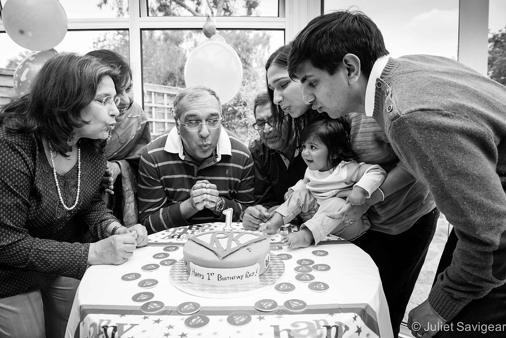 Blowing Out The Candle - Family Portrait Photography, North Harrow