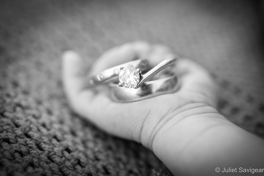 Rings In Baby's Hand - Newborn Baby Photography, Colliers Wood
