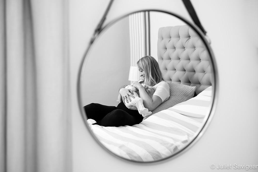 Breastfeeding Baby - Newborn Baby Photographer, Clapham South