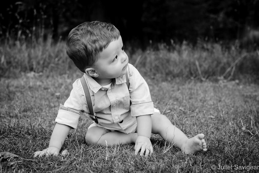 Children's photography in park