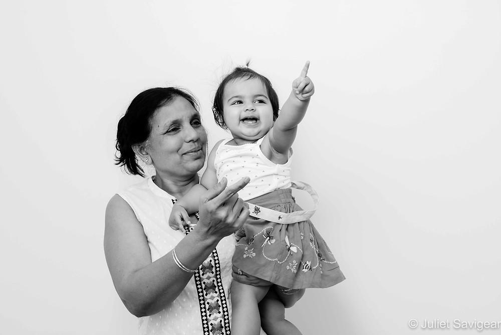 Grandma and baby girl