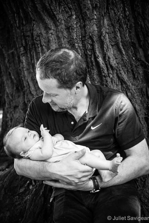 Daddy & His Little Girl - Newborn Baby & Family Photography, Wimbledon