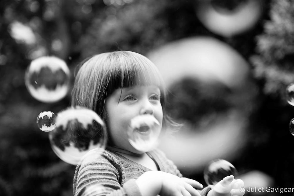 Bubbles - Children's Photography, Wimbledon