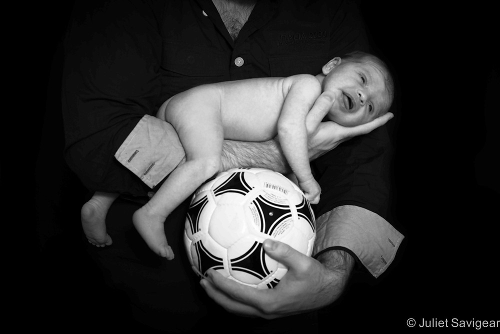 Football Baby - Newborn Baby Photography, Greenwich