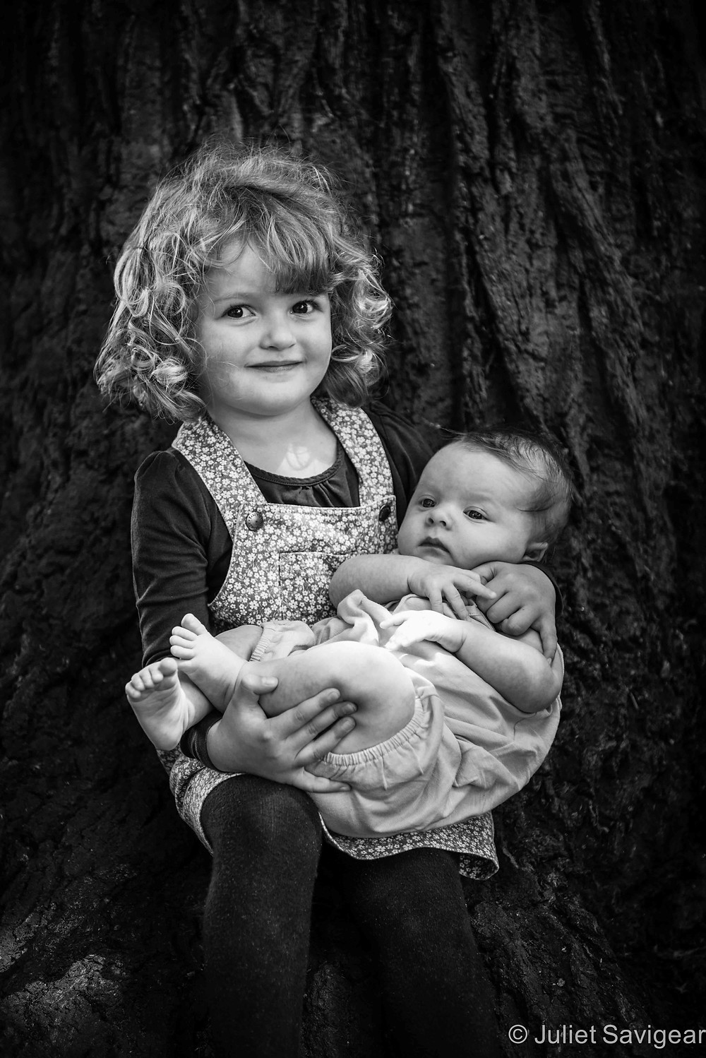 Hannah & Her Baby Sister - Children's Photography, Wimbledon