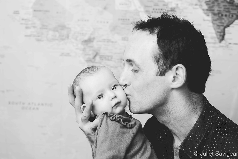 Father's Kiss - Baby Photography