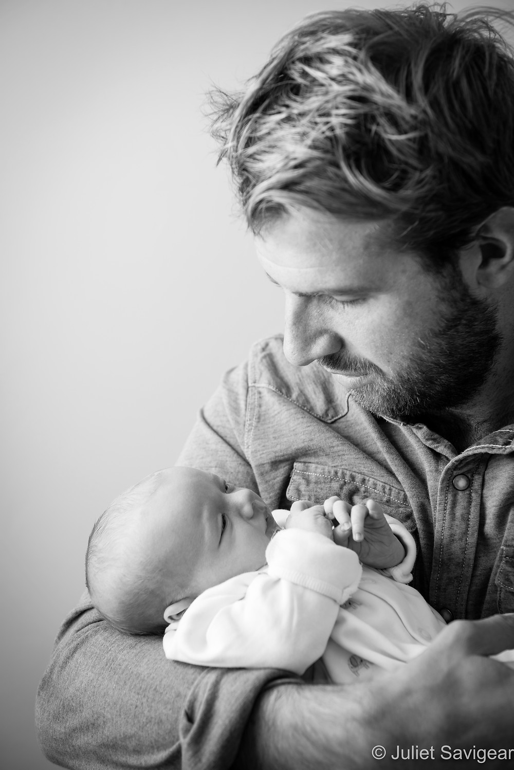 In Daddy's Arms - Newborn Baby Photographer, Clapham South
