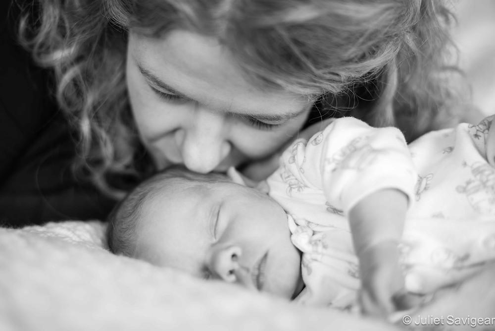 Kissing Baby - Newborn Baby Photographer, Wimbledon