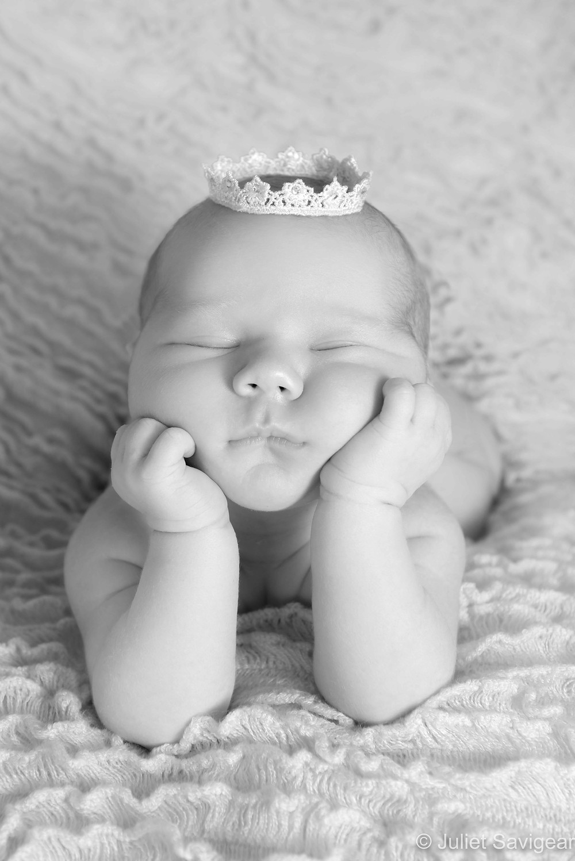 Newborn baby in froggy pose
