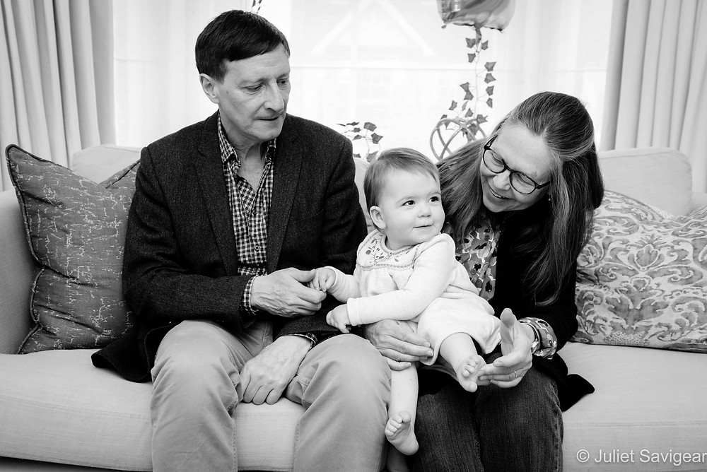 Baby photography with grandparents