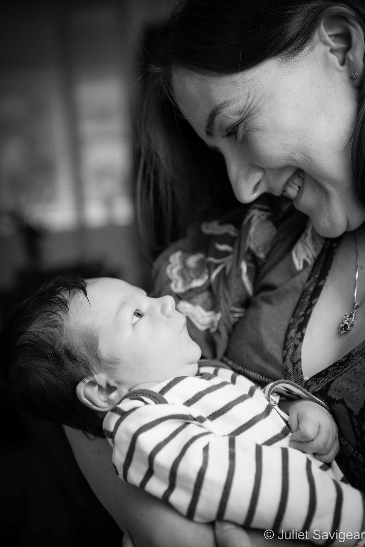 Looking At Mummy - Newborn Baby Photography, Hampstead