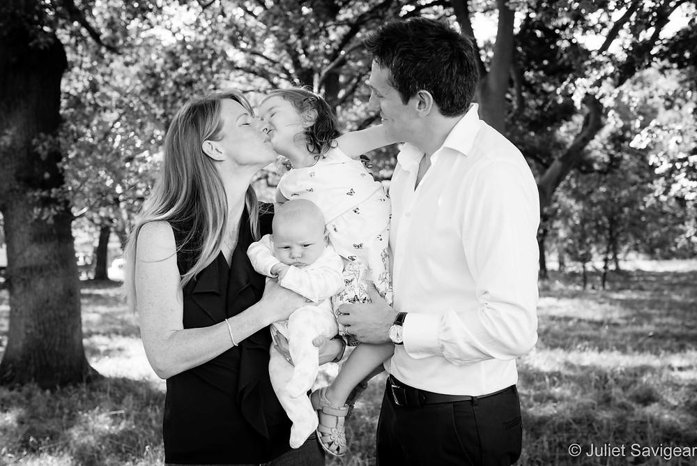 Family photo under the trees