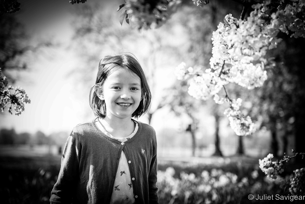 Among The Blossom - Children's Photography, Clapham Common