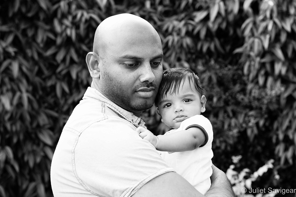 Cuddles With Daddy - Family Photography - Mitcham