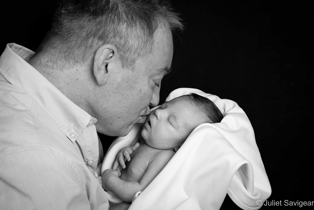 Kiss From Daddy - Newborn Baby & Family Photography, Canary Wharf