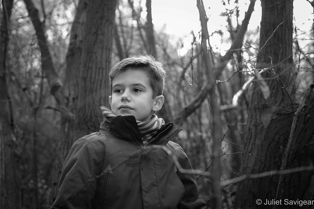 Children's photography in the woods