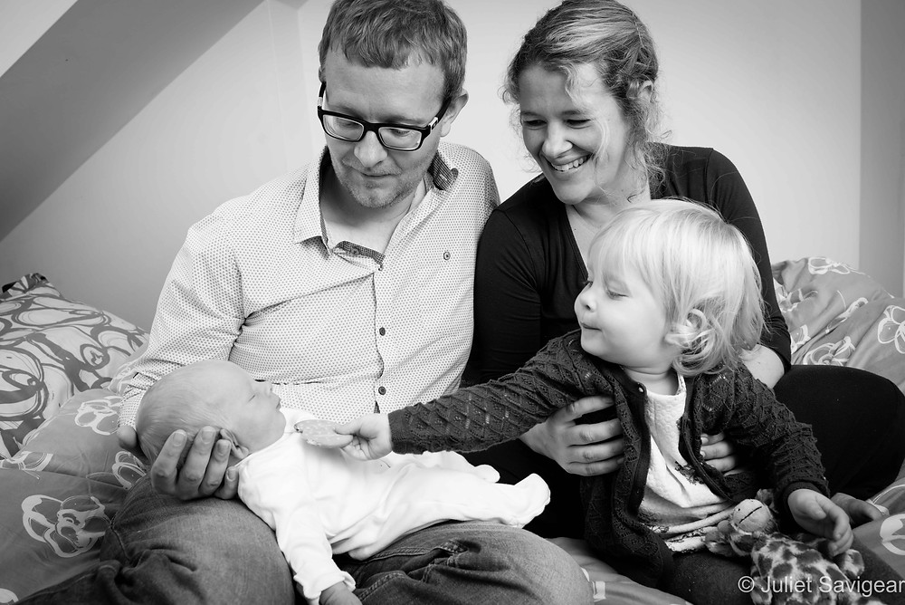 Feeding Baby Brother! Newborn Baby & Family Photography, Wimbledon