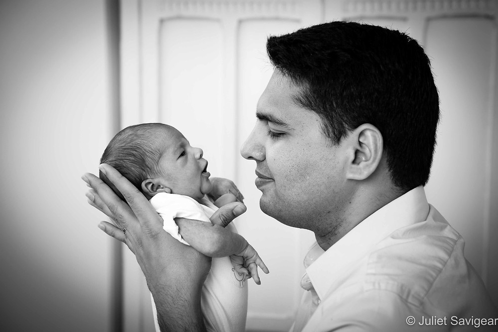 With Daddy - Newborn Baby & Family Photography, Battersea