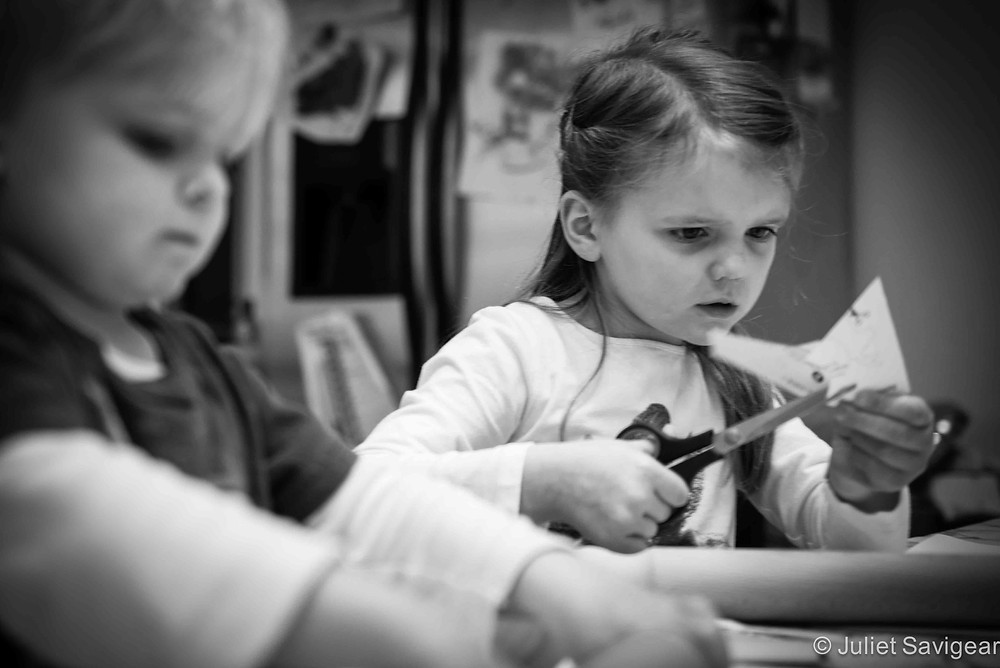 Cutting Shapes - Children's Photography, Balham