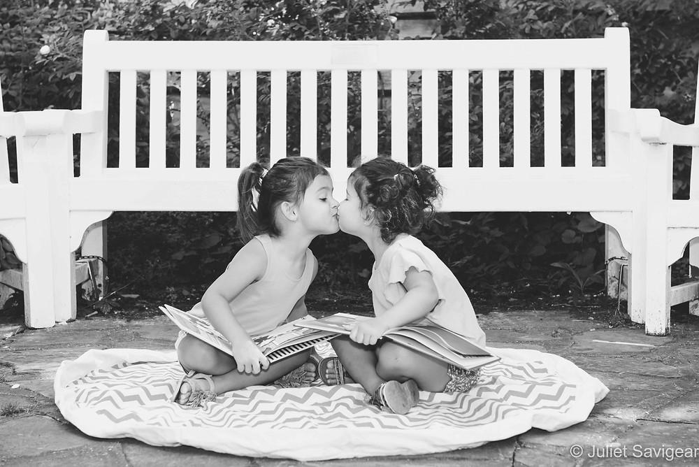Twins kiss