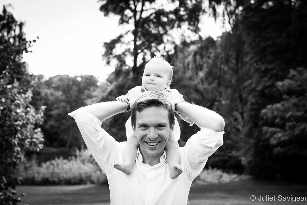 On Daddy's Shoulders - Family Photography - Kenwood House