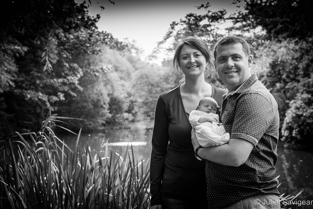 Family Portrait By Pond - Family Photography, Tooting Common