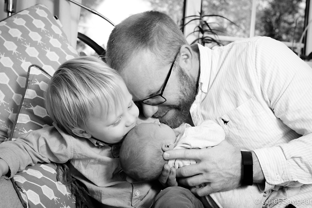 Father with boys