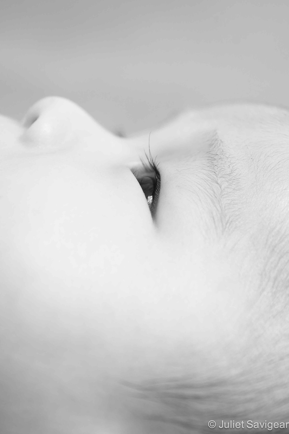 Close Up On Face - Baby Photography, Clapham