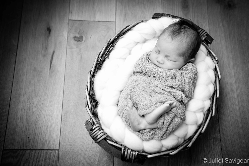 Baby In A Basket - Newborn Baby Photography, Vauxhall