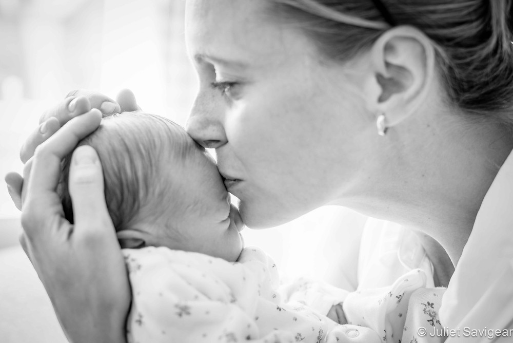Mother's Kiss - Newborn Baby & Family Photography, Hammersmith