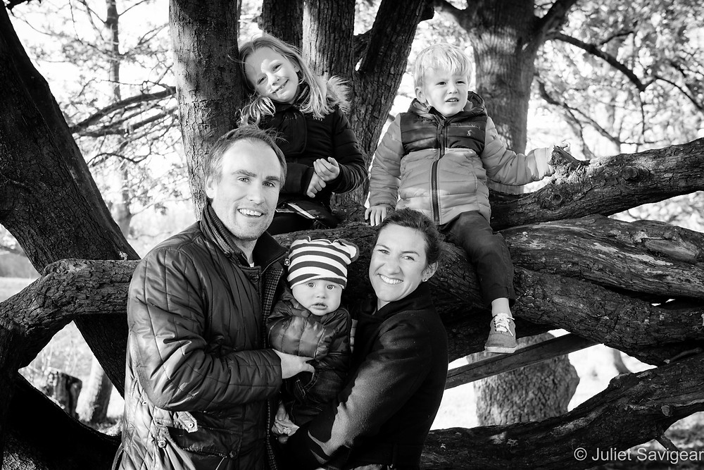 Family photo in a tree