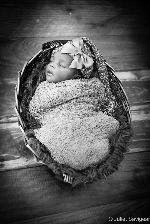 Baby In A Basket - Newborn Baby Photographer, Streatham