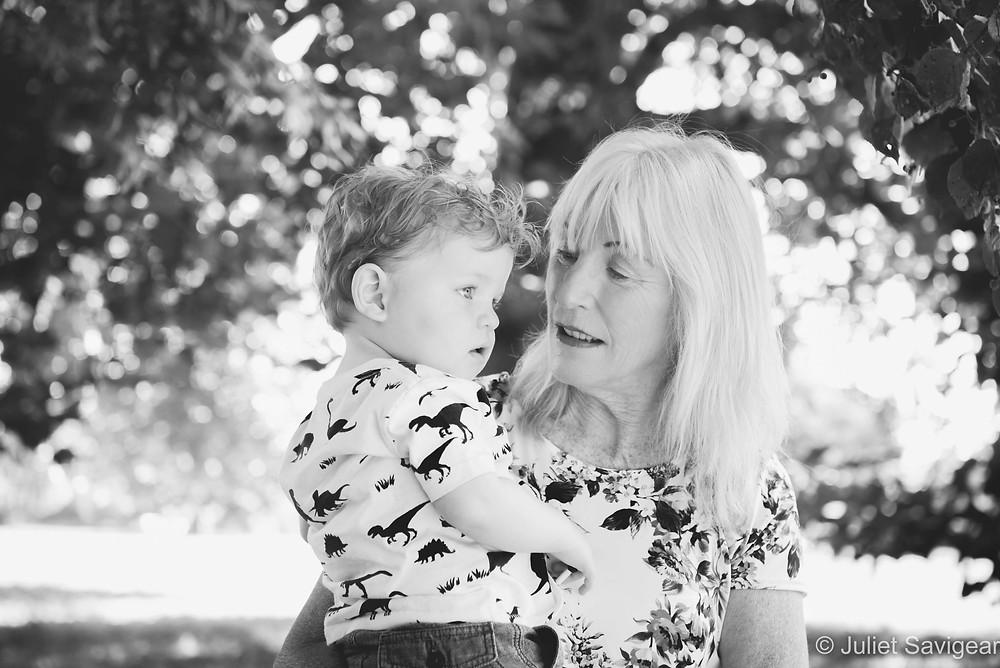 Grandma with grandchild