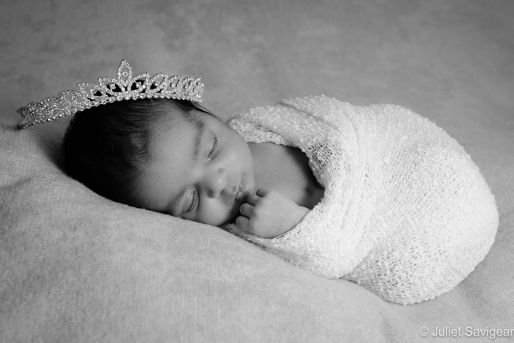 Baby with tiara
