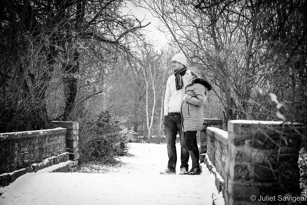 On the bridge in winter